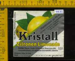 Etichetta Bibita Analcolica Zitronen-Limonade Kristall - Germania - Altri