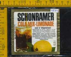 Etichetta Bibita Analcolica Cola Mix-Limonade Schonramer - Germania - Etichette