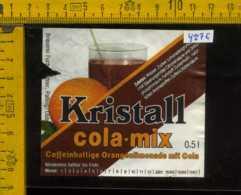 Etichetta Bibita Analcolica Cola Mix-Kristall - Germania (difetto) - Etichette
