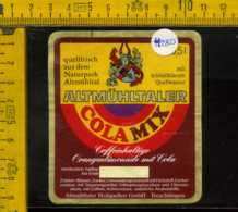 Etichetta Bibita Analcolica Cola Mix Altmuhltaler - Germania - Altri