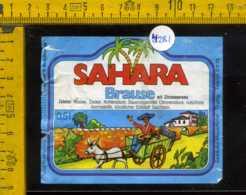 Etichetta Bibita Analcolica Sahara Brause - Germania - Etichette