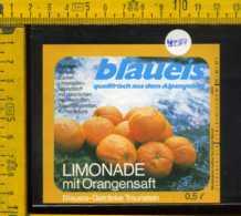 Etichetta Bibita Analcolica Limonade Orangensaft Blaueis - Germania - Etichette
