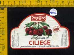 Etichetta Confettura Di Ciliege Suis - Montecchio Magg - Altri