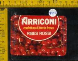 Etichetta Confettura Di Ribes Rossi Arrigoni - Cesena - Etichette