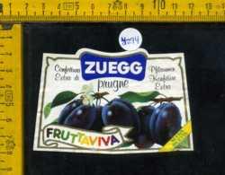 Etichetta Confettura Extra Di Prugne Fruttaviva Zuegg - Etichette