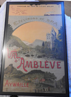 """Aywaille:   Affiche """"Val D'Amblève"""" 96/62 Vendue Avec Cadre - Plakate"""