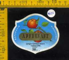 Etichetta Succo Di Mela Apfelsaft - Germania - Etichette