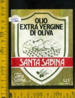 Etichetta Alimentare Olio Extra Vergine Di Oliva Santa Sabina - Lanuvio RM - Etichette