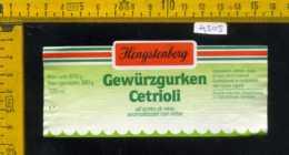 Etichetta Alimentare Cetrioli All'Aceto Di Vino Gewurzgurken - Germania - Altri