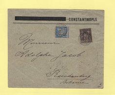 Type Sage - Constantinople Stamboul - 29 Oct 1890 - Destination Reichenberg Boheme - Rare - Postmark Collection (Covers)