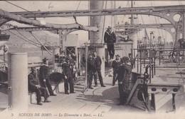 [17] Charente Maritime Rochefort (tampon Marine Rochefort) Scènes De Bord Le Dimanche à Bord - Rochefort