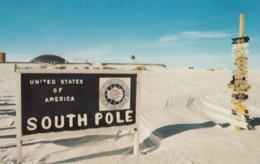 South Pole Antarctica US Amundsen-Scott Station, C1970s Vintage Postcard - Postcards