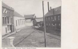 State Prison In Thomaston Maine, Prison Yard C1900s Vintage Postcard - Gevangenis