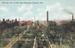 Columbus Ohio Bird's Eye View Ohio State Prison, C1900s Vintage Postcard - Prison