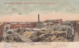 Leavenworth Kansas Federal Prison Under Construction, C1900s Vintage Postcard - Prison
