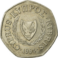 Monnaie, Chypre, 50 Cents, 1994, TTB, Copper-nickel, KM:66 - Chypre