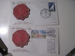 2 ENVELOPPES 1921 Cinquantenaire 1971  Fédération Nationale Des Mutilés  -un Pour Tous Tous Pour Un  1971 TBE - Poststempel (Briefe)