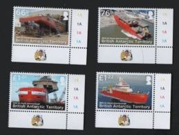 British Antarctique Territory BAT 2018 Ships RRS Attenborough / Antarctique Britannique Navires (ref WP1L8) - Unused Stamps