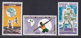 BENIN N°  397 à 399 ** MNH Neufs Sans Charnière, TB (D9008) Sports, Jeux Africains - 1977 - Bénin – Dahomey (1960-...)