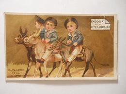 B0069e - Chromo Chocolat De La Cie Française CAVALERIE DE LA FLOTTE Thé De La Chine - Vieux Papiers