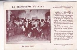 LA REVOLUCION DE MAYO: LA BUENA NUEVA. RARE CPA CIRCA 1920 ARGENTINE - BLEUP - Histoire
