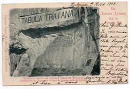 1902 SERBIA, BELGRADE TO NIS,TABULA TRAIANA, DANUBE RIVER - Serbia