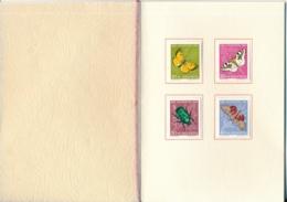 1957 Pro Juventute Vorlage Geschenkheft Von Courvoisier S.A. La Chaux De Fonds - Lettres & Documents