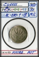 BRITISH COMMONWEALTH#CYPRUS:#COINS# IN MIXED CONDITION#.(CO-BC280-1 (18) - Cyprus