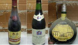 3 Bottiglie Di Vino Periodo Anni 70, Leggere Descrizione - Vin