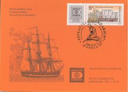 Hungary 1987 Official Exhibition Card Philatelia Hungarica / Hafnia 87 Mi 3899 Exhibition Card FDC - Ungheria