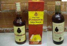 Due Bottiglie Brandy Fundador Vintage, 750 Ml E 1000 Ml - Andere Flessen