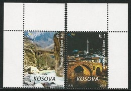 "KOSOVO/ KOSOVA-REPUBLIC - EUROPA 2018 -TEMA ANUAL - ""PUENTES.- BRIDGES - BRÜCKEN - PONTS"" - SERIE 2 V. - 2018"