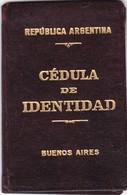 CEDULA DE IDENTIDAD BUENOS AIRES ARGENTINA AÑO 1929 FEMENINO FAMALE DOCUMENT ORIGINAL - BLEUP - Historical Documents
