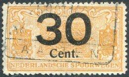 RAILWAY Netherlands 1923 30 C. NEDERLANDSCHE SPOORWEGEN Parcel Steam Locomotive Eisenbahn Paketmarke Chemin De Fer Colis - Trains