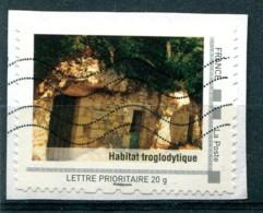 "Collector ""Habitat Troglodytique"" - Lettre Prioritaire 20g Sur Fragment - France"