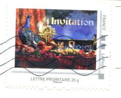"Collector ""Invitation"" - Lettre Prioritaire 20g Au Verso D'une Carte Postale - France"