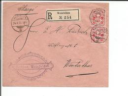 Lettre Recommandée Suisse, M. Forster Weinfelden - Winterthur CH (24.2.1905) - 1882-1906 Armoiries, Helvetia Debout & UPU