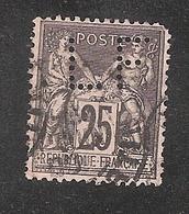 Perforé/perfin/lochung France No 97 LF Lefebvre Frères - Perforés