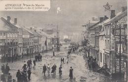 Aywaille: -  Inondation Place Du Marché En 1913 (état Voir Scan) - Aywaille