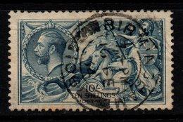 "R651 - GREAT BRITAIN. 1919. SC#: 181. - 10 Sh. -USED - "" BIRMINGHAM  "" - BRITTANIA RULES THE WAVES. CV: US$ 125.00 - Usati"