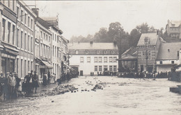 Aywaille: -  Carte Photo - Inondation Place Du Marché En 1914 - Aywaille
