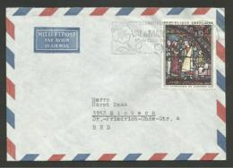 N° 1399 - 0.95 Vitrail Cathédrale Chartres / Lettre Avion >>> ALLEMAGNE - Postmark Collection (Covers)