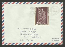 N° 1743 - 2.00 Tableau Moutier D'ahun / FERNEY VOLTAIRE - AIN 18.08.1973 / Lettre Avion >>> U.S.A. - Postmark Collection (Covers)