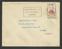 N° 1252 - Résistant Abbé BONPAIN / ANGOULEME 29.07.1960 >>> U.S.A. - Marcophilie (Lettres)