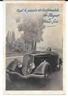 """Cpa Paris 14è / """" Tout Le Plaisir De L'automobile ... Une Peugeot De Paris-Sud ! """"- Concessonnaire Geugeot . - Distretto: 14"""