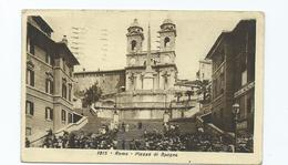 Italy Postcard Posted 1930  Roma Rome Plazza Di Spagna - Places & Squares