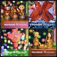 2016 MÉXICO NAVIDAD,PIÑATA  MEXICAN CHRISTMAS, NOCHE  BUENA FLOWER, PINATA, Block OF 4, MNH Sc 3036 - México