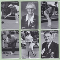 New Zealand - Protel Ltd - Prepaid (Inactive) - 199? Bowls NZ World Champions Set (6) - Mint - Neuseeland