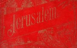 CARNET DE 12 LITHOGRAPHIE DE JERUSALEM - JORDANIE - OELBERG - BETHLEEM - MOSQUEE EL AKSA Et OMAR - Israel