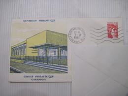 ENVELOPPE CERCLE PHILATELIQUE GARENNOIS 1980 TBE - Marcophilie (Lettres)